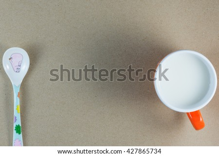 Food, beverage, dairy, fresh dawn of a child. - stock photo