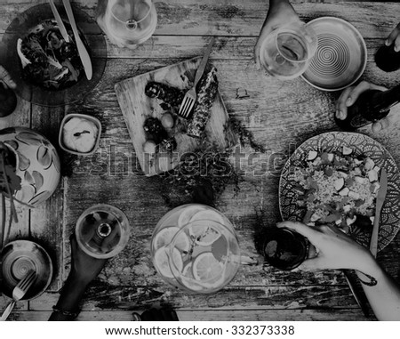 Food Beverage Party Meal Drink Concept - stock photo
