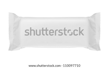 food blank package isolated over white background - stock photo