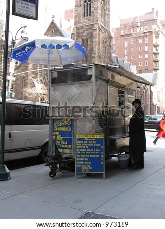 Food cart in New York City
