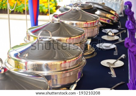 Food catering preparation - stock photo