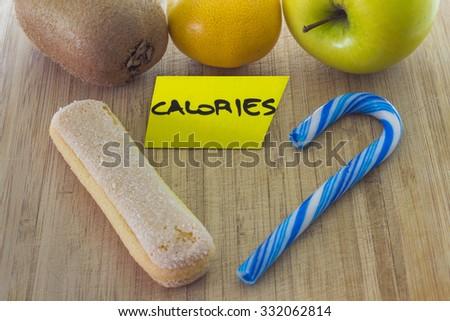 Food choice concept - stock photo