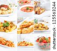 food collection, italian cuisine - stock photo