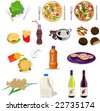 Food collection set - stock photo