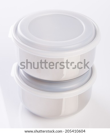 food containers on a background. - stock photo