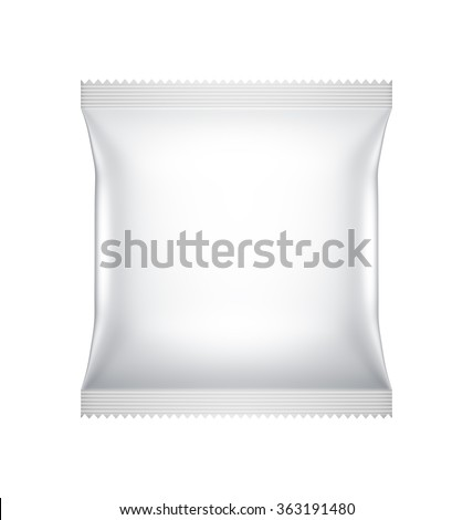 Food Cookie Blank white Packaging design, illustration Virtual 3D isolated - stock photo