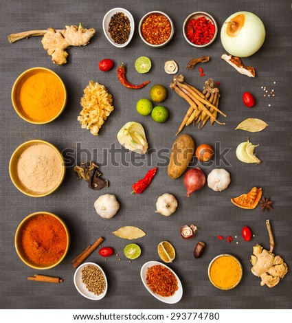 Food for spices on background. - stock photo