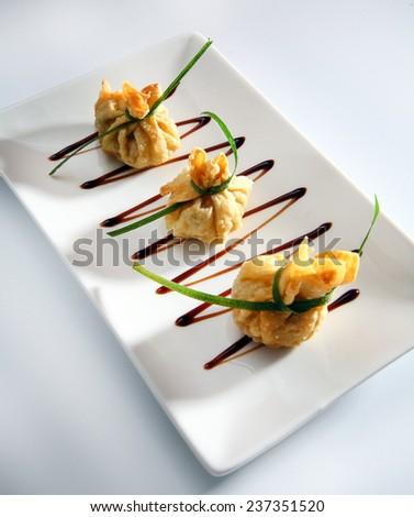 food gourmet dim sum - stock photo