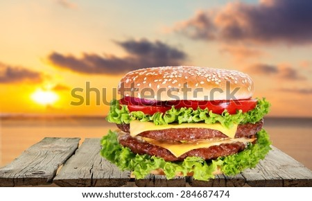 Food, Hamburger, Burger.
