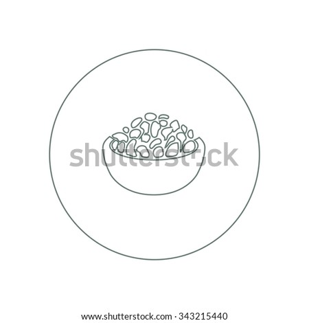 food icon. Concept flat style design illustration icon. - stock photo