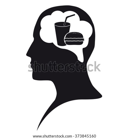Food in mind - stock photo