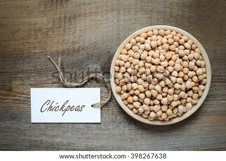 Food ingredients concept, chickpeas - stock photo