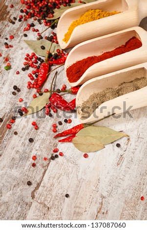 food ingredients over wooden background