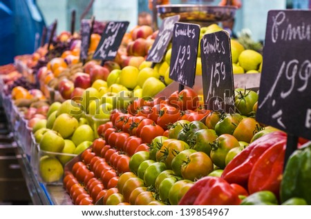 Food market, Barcelona, Spain