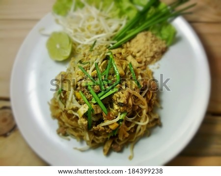 food noodles in thailand