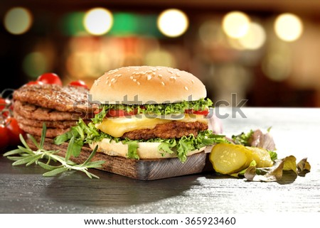 food of fast food  - stock photo
