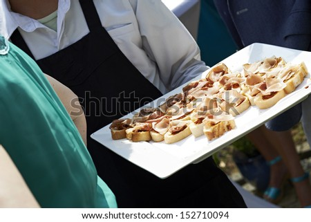 food on a plate - stock photo