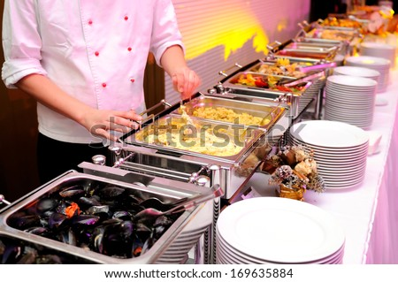 Food on the luxury party - stock photo