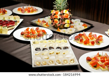 Food on the party  - stock photo