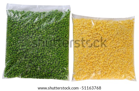 Food packaging. Isolated - stock photo