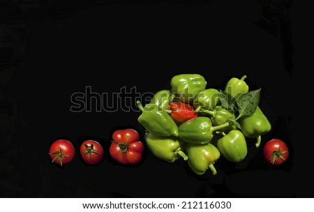 food,pepper,tomato,vegetable - stock photo