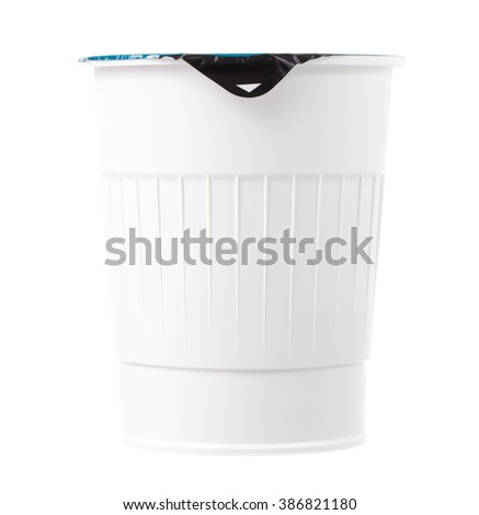 Food plastic container for noodle isolated on white background