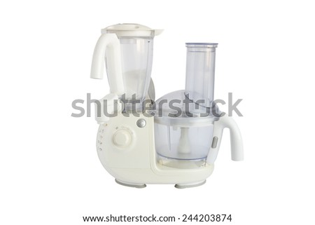 food processor isolated on a white background - stock photo