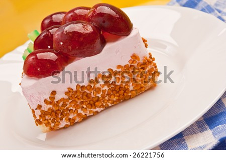 food serie: sweet fancy cake with grapes