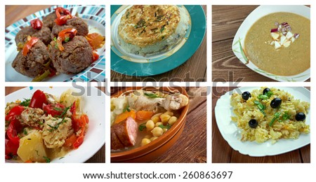 Food set .spanish and  Portuguese  traditional  cuisine.closeup