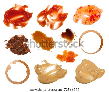 Food stains - stock photo