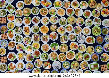 food  thai numerous - stock photo