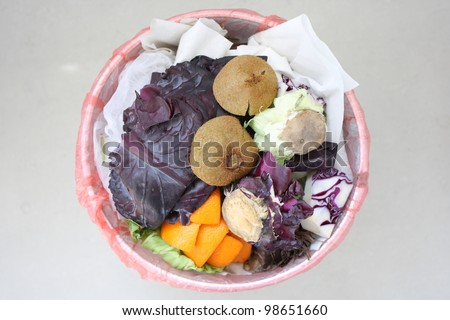 Food waste - stock photo