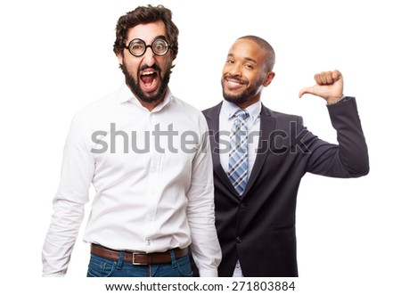 fool man shouting - stock photo