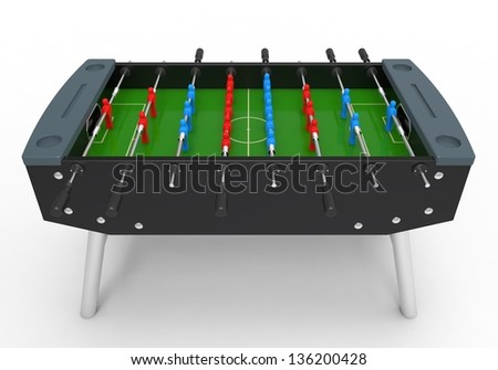 Foosball Soccer Table Game - stock photo