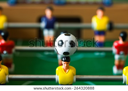 foosball  table - stock photo