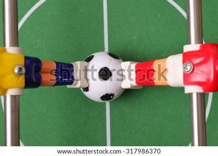 foosball. table football - stock photo