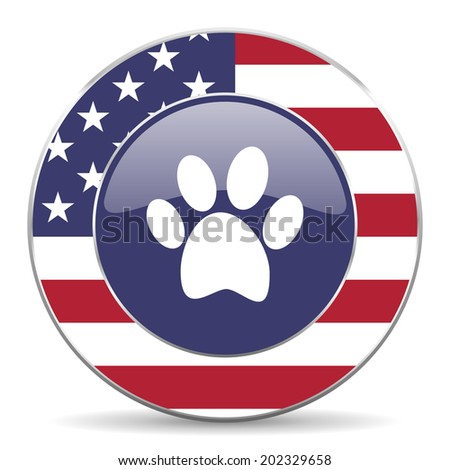 foot american icon  - stock photo