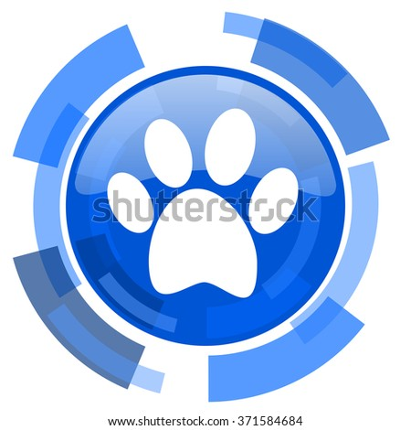 foot blue glossy circle modern web icon - stock photo