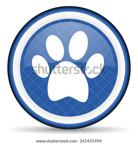 foot blue icon   - stock photo