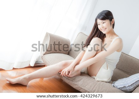 Foot care , feet , legs , woman, massage