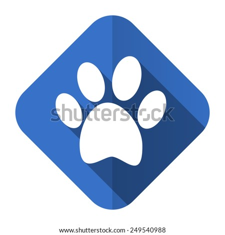 foot flat icon   - stock photo
