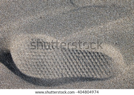 Foot Mark in the Beach