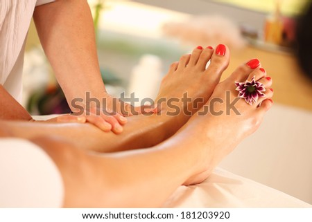 Foot massage in the Spa
