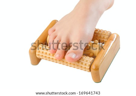 foot massager isolated white background