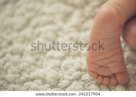 Foot of newborn