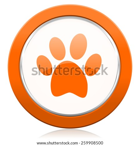 foot orange icon   - stock photo
