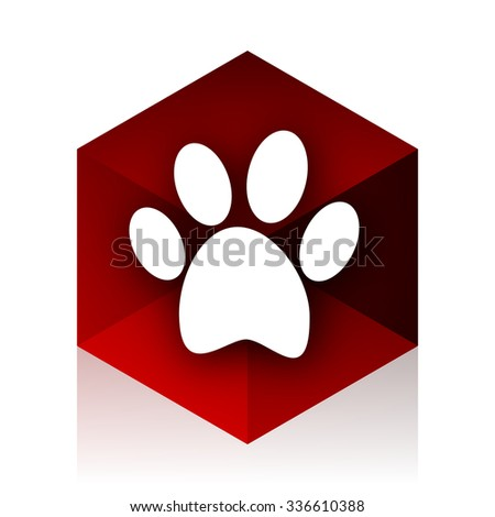 foot red cube 3d modern design icon on white background  - stock photo