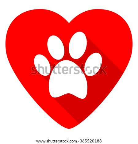 foot red heart valentine flat icon - stock photo
