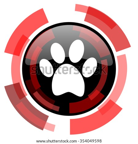 foot red modern web icon - stock photo