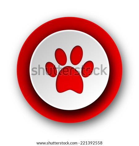 foot red modern web icon on white background  - stock photo